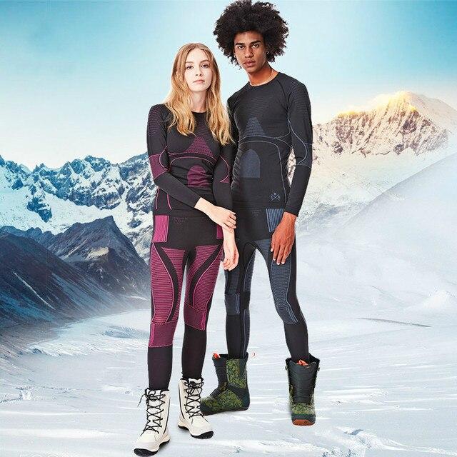 SMN Thermal Ski Underwear Set Adult Women Breathable Wicking Snowboard Underwear Winter Outdoor Sports Ski Clothing