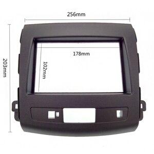 Image 2 - 2Din Car Radio Fascia For Mitsubishi Outlander 2008 2012 Auto Stereo Interface Panel In Dash Mount Frame Kit