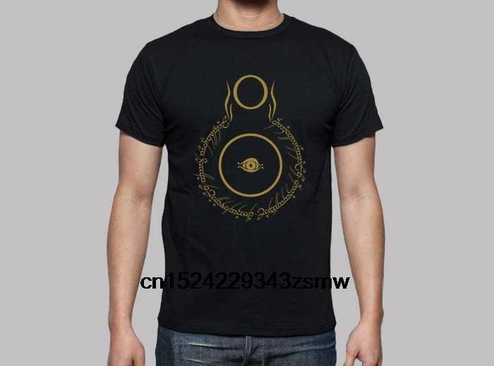 100% bawełna O-neck T-Shirt z niestandardowym nadrukiem T-Shirt męski Sauron v1 (władca pierścieni) T-Shirt damski