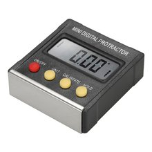 Mini Electronic Digital Display Inclinometer Grade Level Meter Protractor Magnetic Angle Ruler Inclination Box