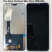 6.26 새로운 오리지널 asus Zenfone Max Plus (M2)/Shot ZB634KL 전체 LCD DIsplay + 터치 스크린 디지타이저 어셈블리 100% 테스트 됨