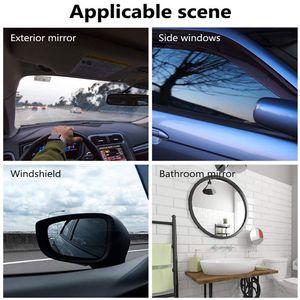 Image 4 - 2Pcs/set Rainproof Car Accessories Car Mirror Window Clear Film Membrane Anti Fog Anti glare Waterproof Sticker Driving Safety