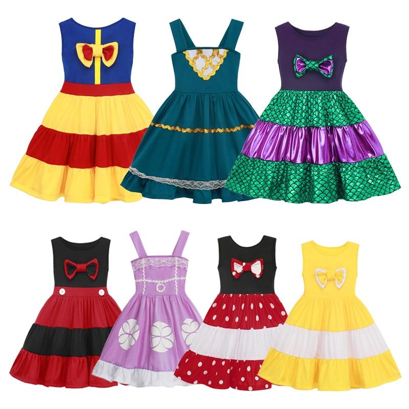 Vestido de verano de Halloween para niñas, ropa informal de fiesta, traje de moda para niños de 3 a 10 años
