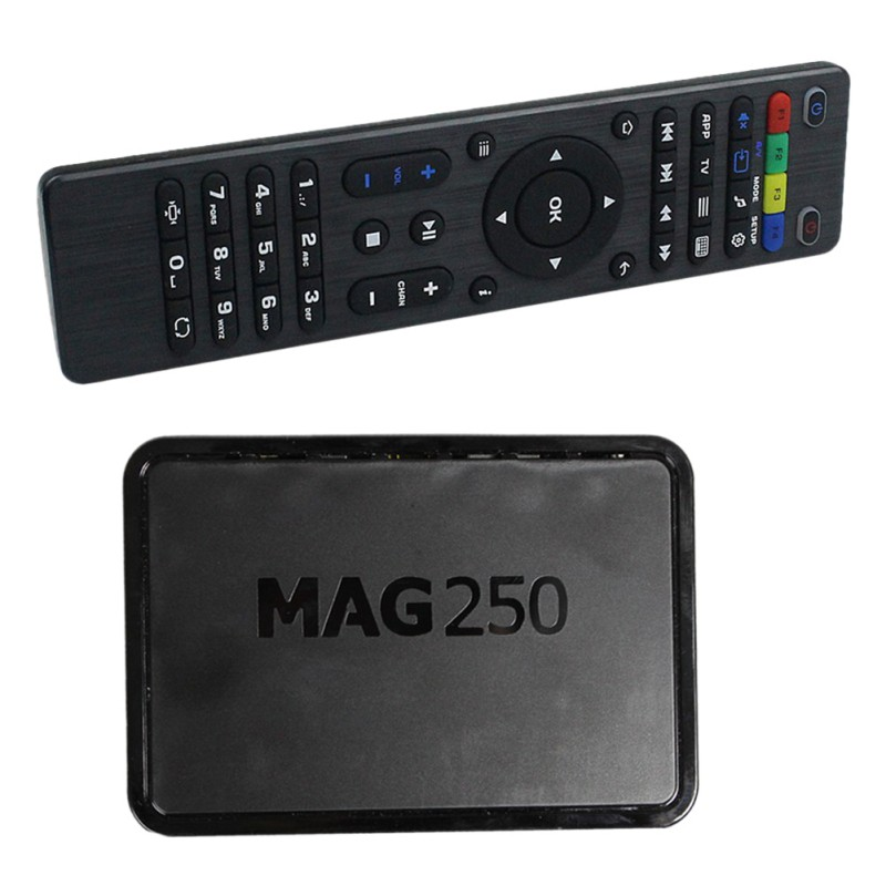 MAG250 High Definition Set Top Box High Definition Network Converter Boxes With Remote Controller Charger Cable