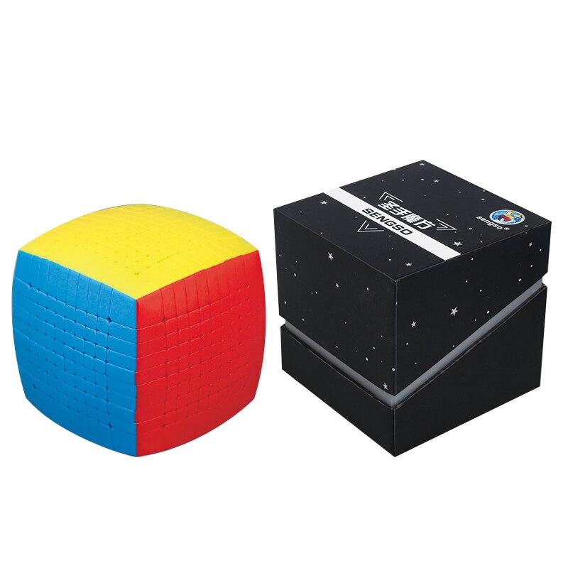 Nouveau Puzzle magique 10x10 Shengshou 10x10x10 Cube de vitesse sans autocollant 85mm professionnel Cubo Magico jouets de haut niveau pour les enfants