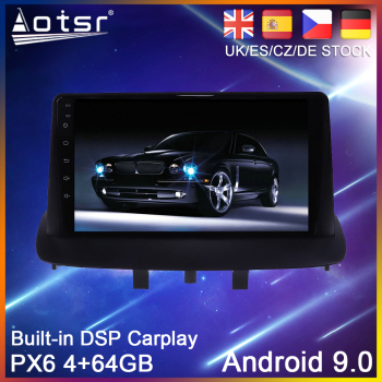 Android 9 PX6 64G Car DVD Player GPS Navigation For Renault Megane 3 2009 2010 2011-2015 Radio Stereo Multimedia Player HeadUnit image