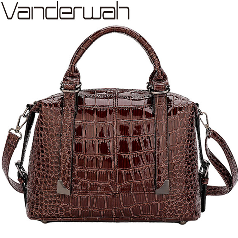 Luxury Handbags Female Crocodile Patent Leather Women Bag Designer High Quality Messenger Bags For Women Crossbody Shoulder Bags