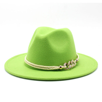 Black/white Wide Brim Simple Church Derby Top Hat Panama Solid Felt Fedoras Hat for Men Women artificial wool Blend Jazz Cap 12