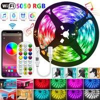 RGB 2835/5050 LED Streifen Licht SMD RGB Lampe Band Alexa Musik Flexible DC TV Band Wasserdichte WIFI Controller + adapter für app
