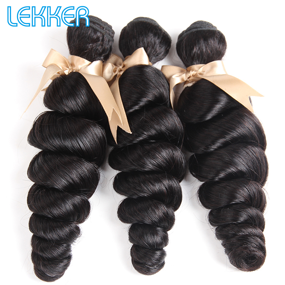 Lekker Hair Malaysian Loose Wave Hair Bundles 3 4 Pieces Natural Color 100% Human Hair Weave Extensions Bundles Beauty Supply