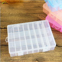 1pcs Plastic Storage boxes Slots Adjustable packaging transparent Tool Case Craft Organizer box jewelry accessories