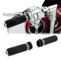 Motorcycle 1 Handle bar Hand Grip For Harley Honda Yamaha Touring XL1200 883 Sportster Softail Cruiser Road King Electra Glide