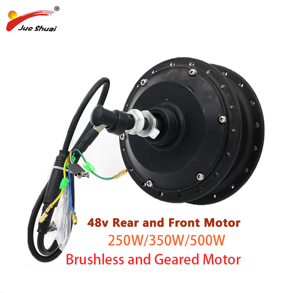Electric Bicycle Motor 48V 250w 350w 500w Front Rear Hub Brushless Motor Suit for 20 24 26 700c Wheel Ebike Conversion Kit