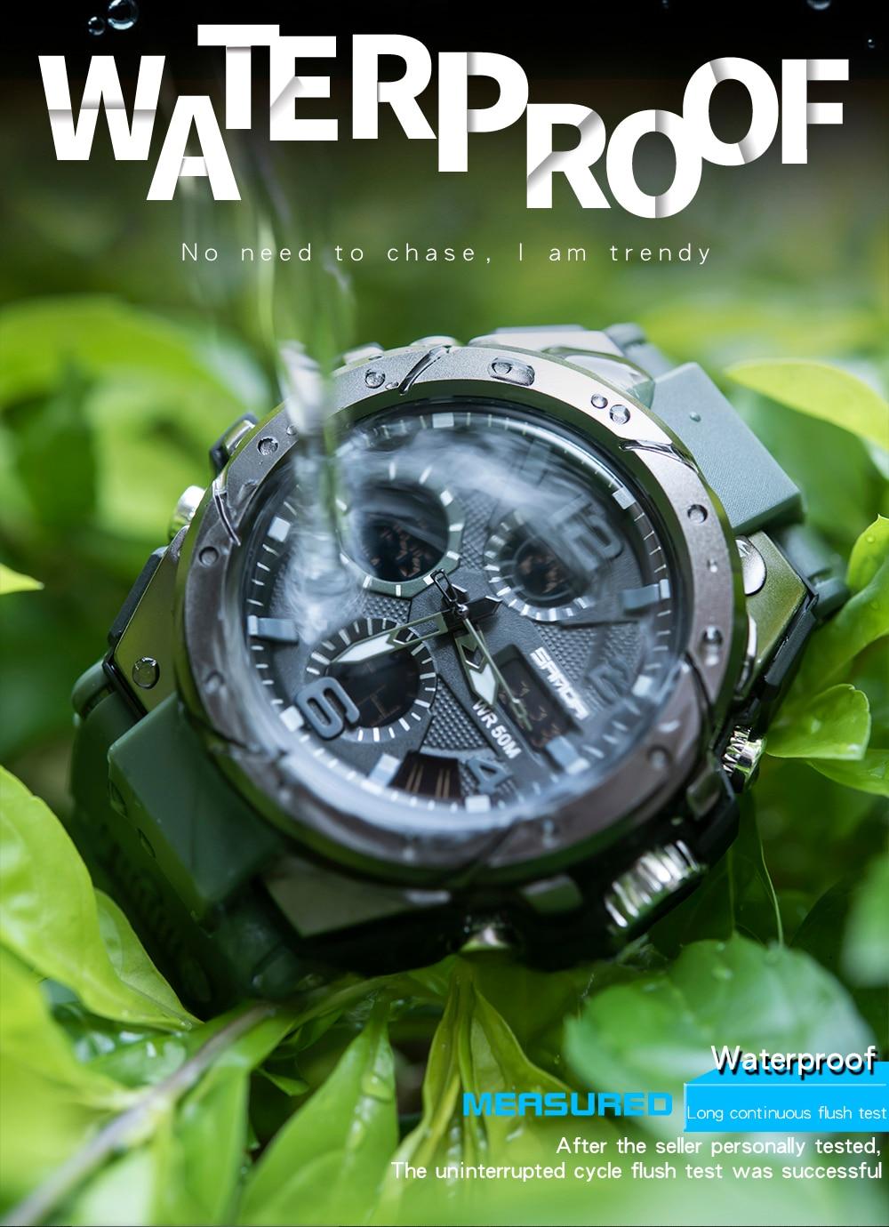 H3cfbdf588fad4fbbaac3814564d46668C SANAD Top Brand Luxury Men's Military Sports Watches 5ATM Waterproof