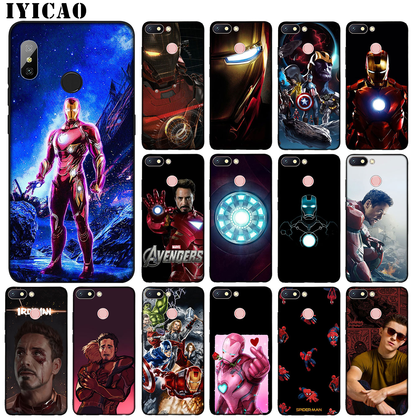 The Avengers Endgame Spider Marvel Iron Man Thanos Soft Silicone Phone Case For Xiaomi Redmi K20 8A 7A 6A Note 8 7 5 6 Pro Cover