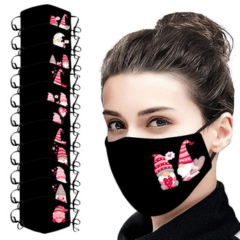 Anti-pm2.5 Dust Mask Couple Print Mask Activated Carbon Outdoor Mouth Valentine's Day Print Face Mask Protection Mask Маска #Z image