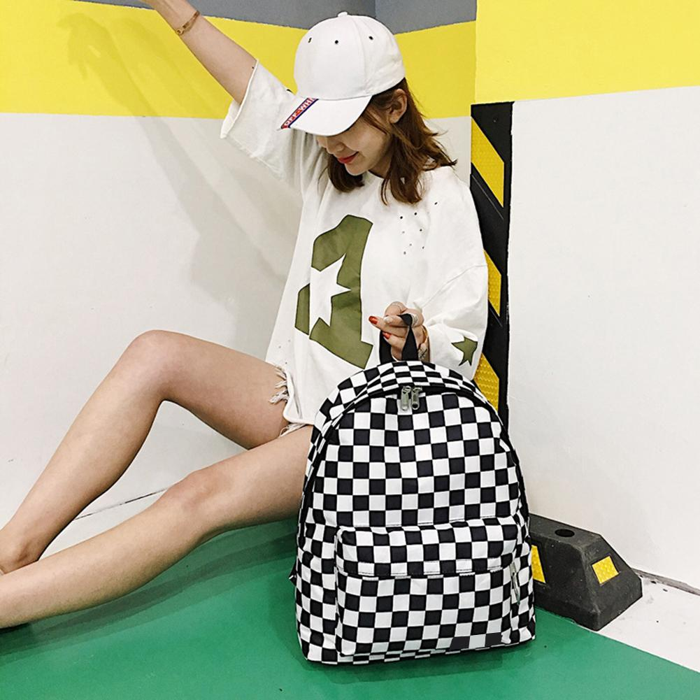 Plaid Backpack Bags Board Couples Chess Junior And Hong-Kong Neutral Hot New-Trends Men