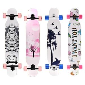 Image 4 - מקצועי מלא Longboard סקייטבורד ריקוד רחוב סקייטבורד Longboard Downhill מייפל סיפון לוח
