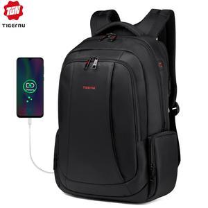 Image 1 - Tigernu מותג גברים של נשים USB תשלום תרמיל 15.6 אינץ מחשב נייד תרמילי בית ספר תיק תרמילי עבור בני נוער מקרית המוצ ילה