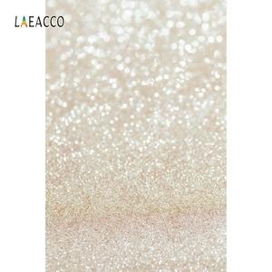Image 5 - Laeacco אור Bokeh נצנצים פולקה נקודות תינוק מקלחת צילום רקע יילוד תפאורות חתונה שיחת וידאו עבור תמונה סטודיו