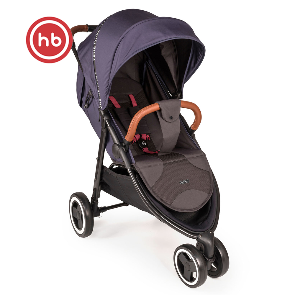 Lightweight Stroller Happy Baby Ultima V3 Mother And Kids Stroll Baby For Boys And Girls Children Strollers Light Grey Gray
