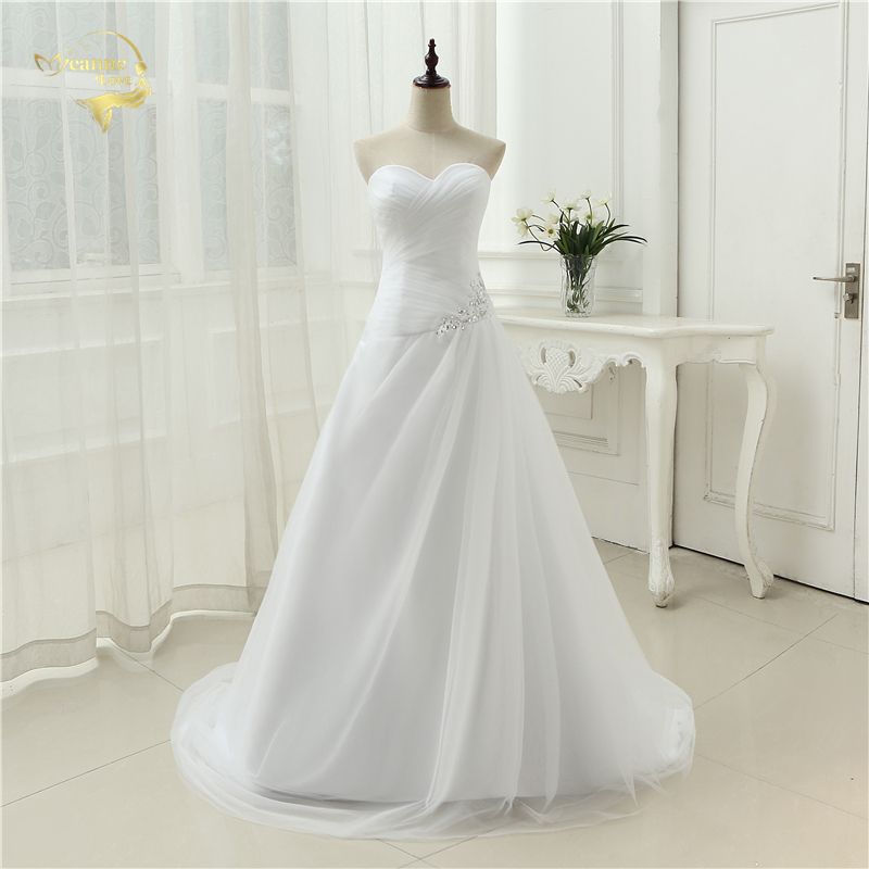 New Arrival 2019 Wedding Dresses Sweetheart A Line Rhinestone Beading Bridal Gown Vestidos de Novia Plus Size Lace Up 5981982