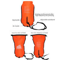 Dry Bag Safety Swim Buoy Tow Float Training With Waist Belt Storage Highly Visible Sports Open Water PVC Snorkelers Kayakers