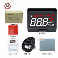 Pare-brise de voiture avec affichage HUD A100s obd, affichage de la température, système électronique d'avertissement de vitesse