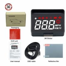 Pantalla para coche HUD A100s obd hud, proyector de parabrisas, pantalla de temperatura hud, electrónica, sistema de advertencia de exceso de velocidad