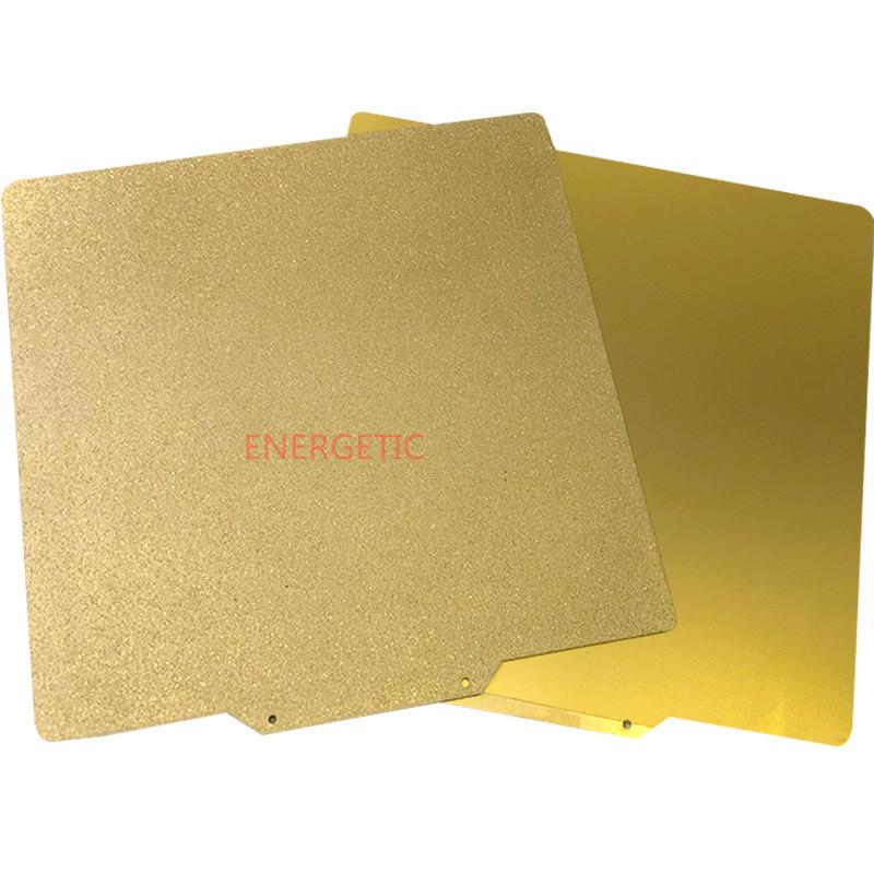 Gold BCZAMD 235x235MM Double Sided Textured PEI Spring Steel Sheet Powder Coated PEI Build Plate for Creality Ender-3 Ender-3s Tevo Flash