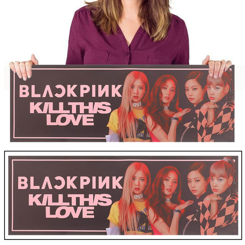 1 Piece Kpop  BLACKPINK  Concert Support Hand Banner Fabric Hang Up Poster For Fans Collection Gift
