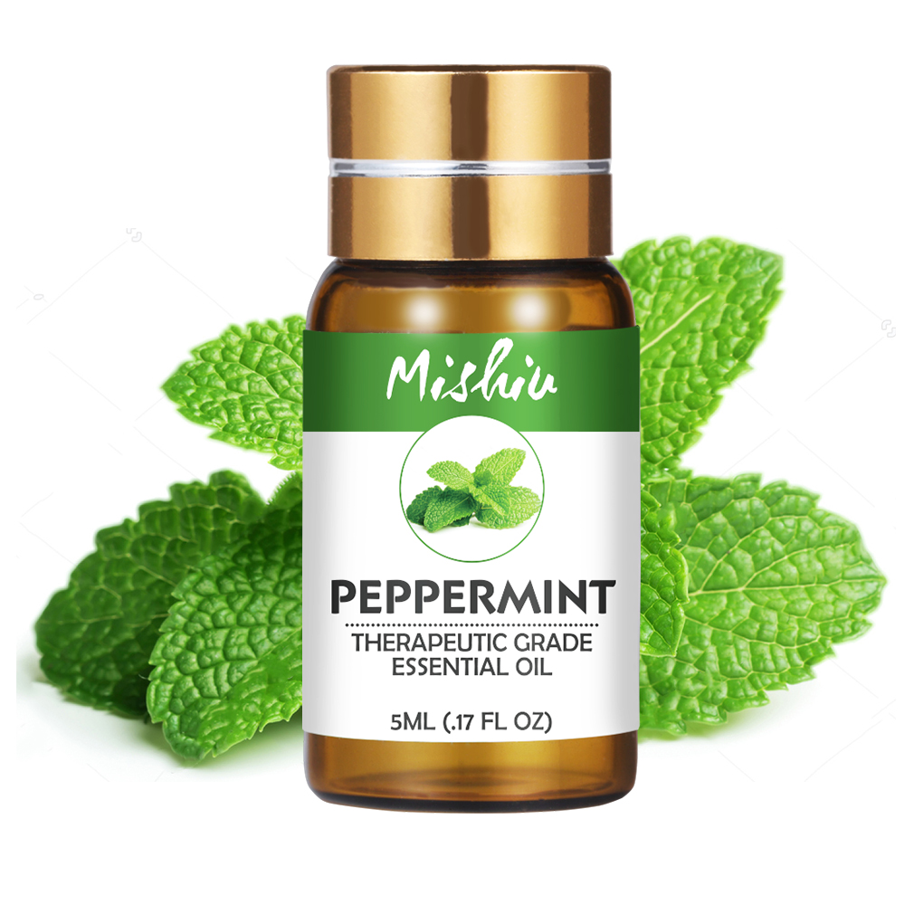 Mishiu Peppermint Pure Essential Oil For Aromatherapy Diffusers Body Oil Relaxing Sleep Aid Aromatherapy Fragrance Oil 5ML