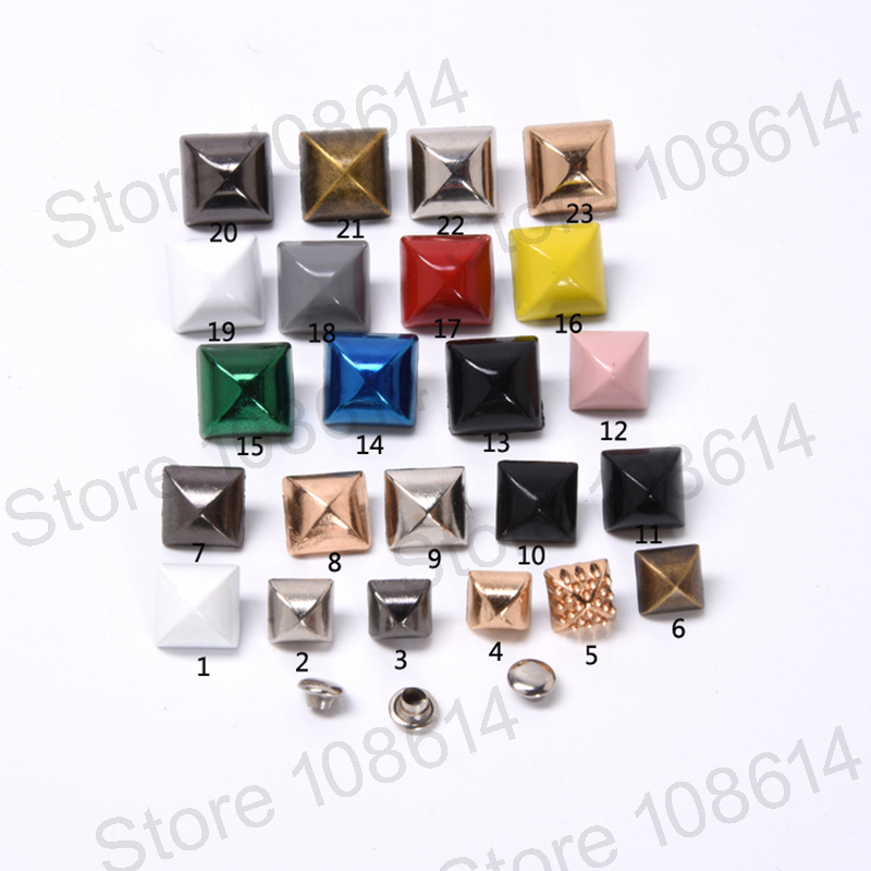 50 Round Rhinestone Studs Nailheads Spikes Leather Craft Bag Jeans 4 Prong