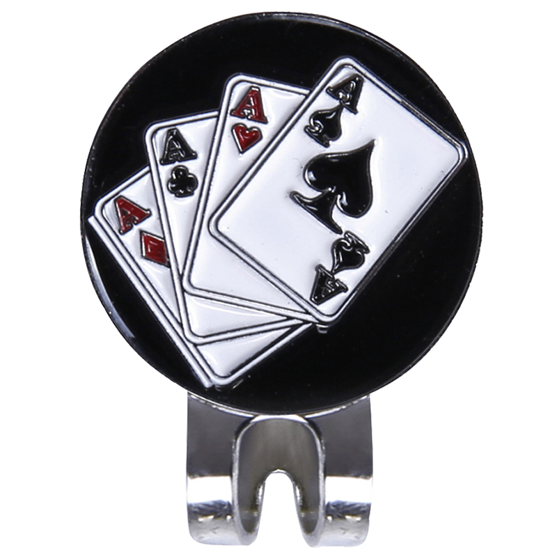 Magnetic Cap Clip Removable Metal Golf Black Poker Marker Set