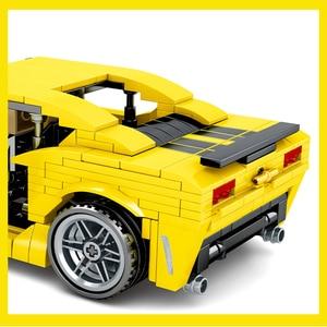 Image 3 - Sembo City Technic F1 sport Racer model klocki Mustang wyścigówka cegły dzieci zabawka edukacyjna prezent dla dzieci
