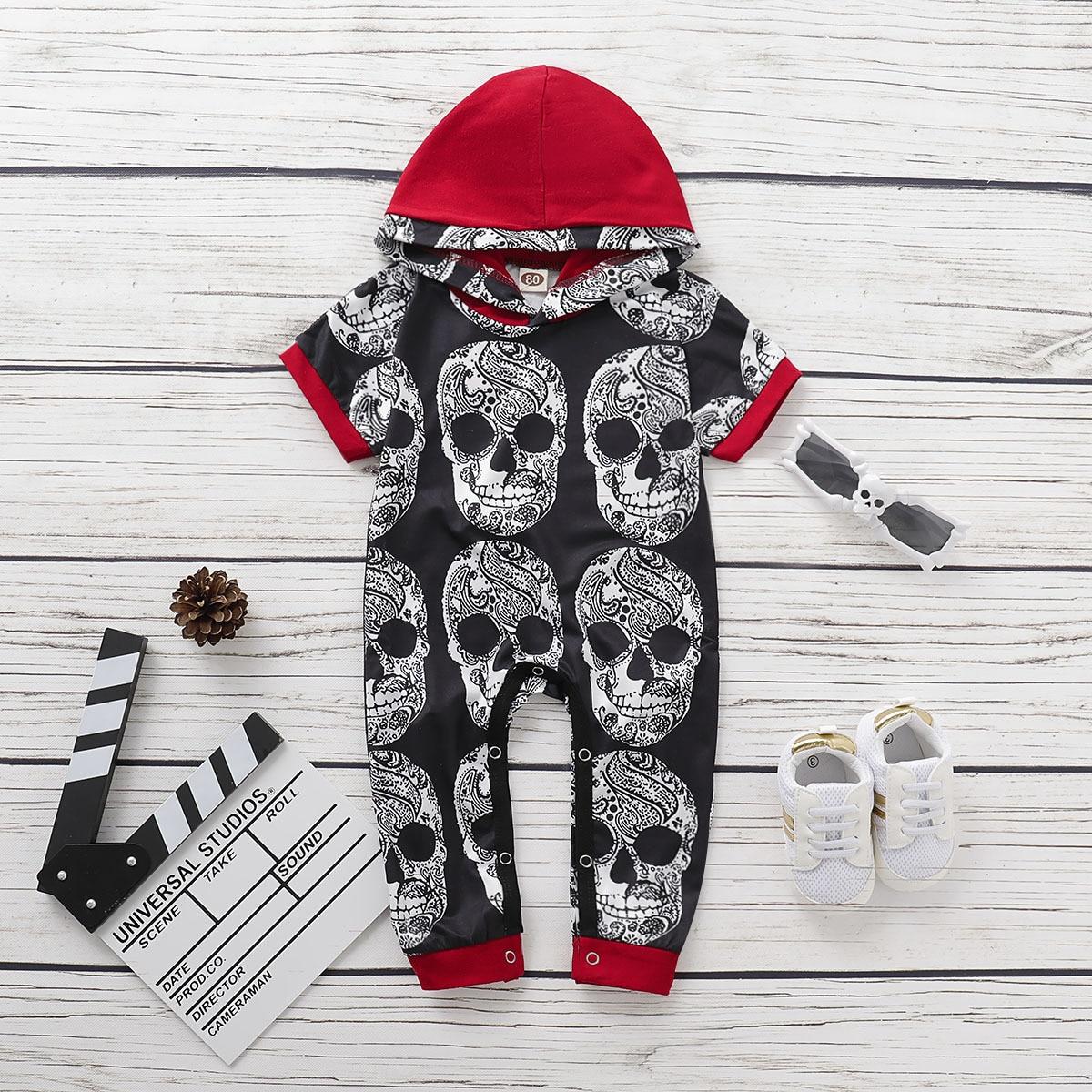 Toddler Baby Girls Bodysuit Short-Sleeve Onesie Skeletons Friends to The Bone Print Jumpsuit Spring Pajamas