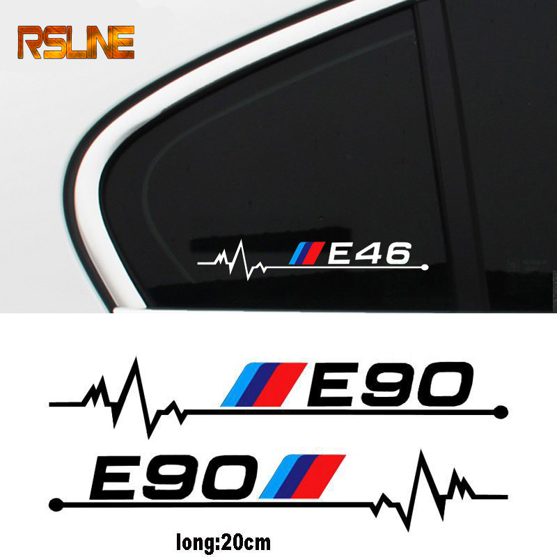 2pcs Car Windows Sticker For Bmw E28 E30 E34 E36 E39 E46 E60 E61 E62 E87 E90 E91 E92 E83 F10 F20 F21 F30 F35 LOGCar Accessories