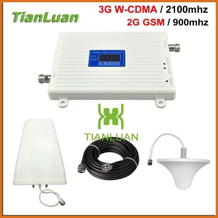 Gsm900 W-cdma 2100mhz Phone Signal Booster Device Enhanced Signal