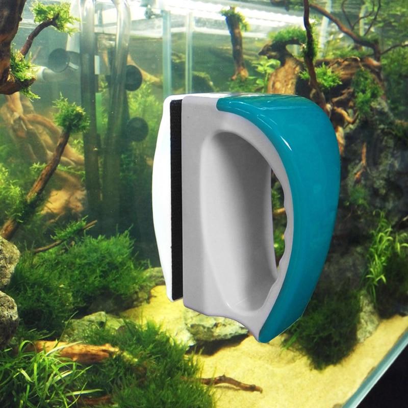 Мини Магнитный аквариумный стеклянный очиститель для аквариума кисть магнитные сильные магнитные чистые мертвые концы без царапин PLYED889