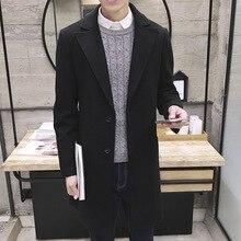 MRMT Брендовое новое зимнее мужское шерстяное пальто Длинная ветровка куртка пальто для мужчин повседневная верхняя одежда