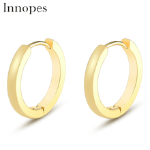 Innopes Gold Small Hoop Earrings buckle For Women Men Stainless Steel Simple  Jewelry Accessories Gift