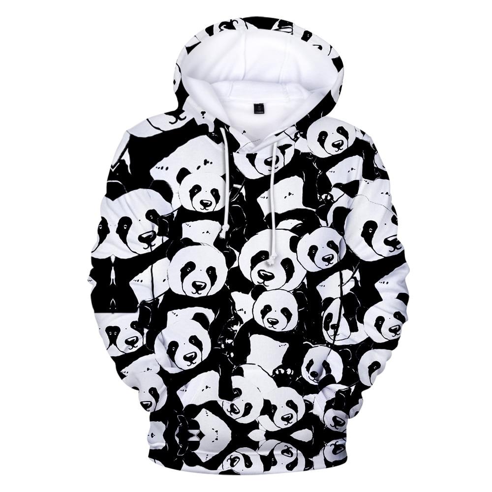 Print 3D Panda Hoodies Casual Sweatshirt Men Women Fashion Hooded Cute Panda 3D Hoodies Harajuku Sweatshirt Men's Oversized Tops