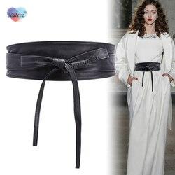 Nuleez широкий пояс для женщин из натуральной кожи роскошный модный аксессуар платье классическое