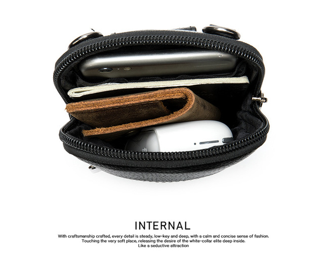 Casual Genuine Leather Mens Bag