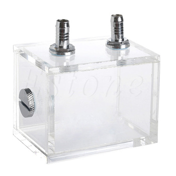 200ml Acrylic Liquid Water Cooled Brushless Pump Tank For CPU Water Cooling  g1 4 thread water cooling tank 50mm x 140mm acrylic cylinder reservoir tank for pc computer liquid cooling with l shape buckle