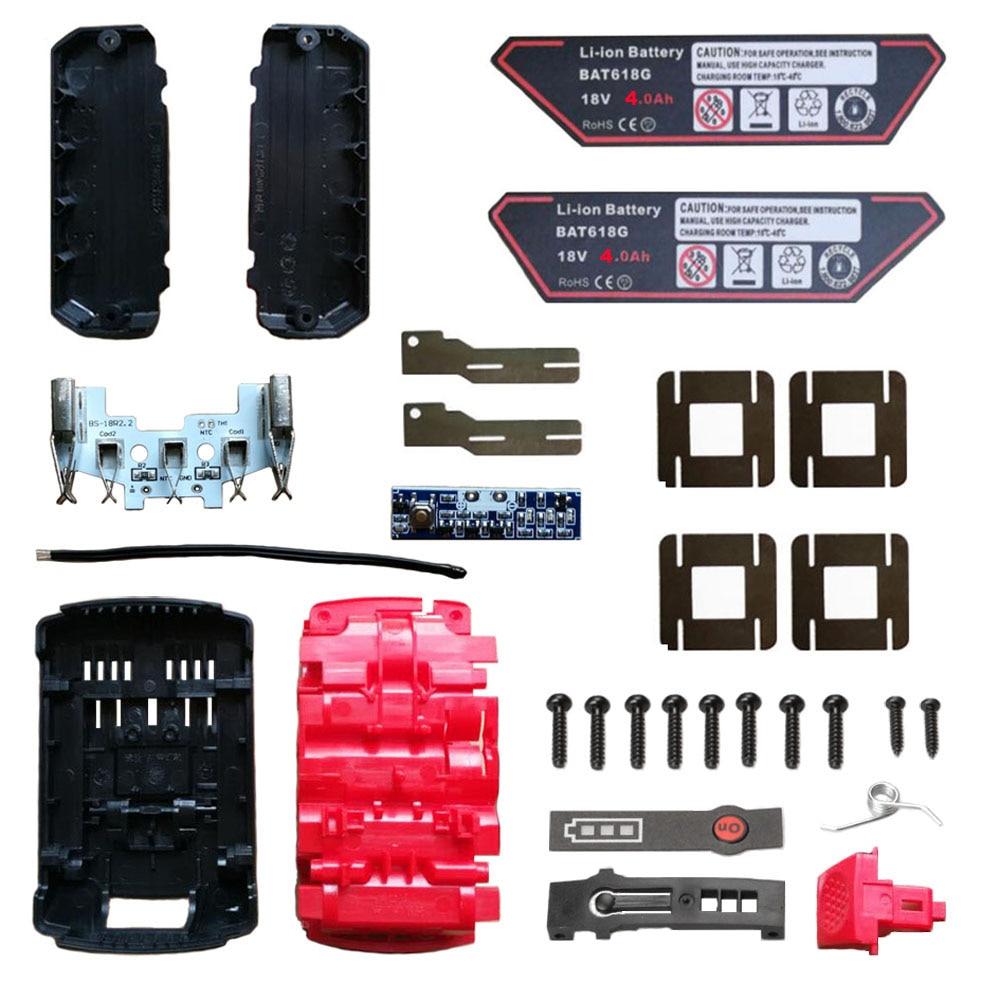 Electric Drill Parts BAT618 Battery Plastic Case PCB Board Circuit Board For  Bosch 18V BAT610 BAT609G BAT618G Li-ion Battery