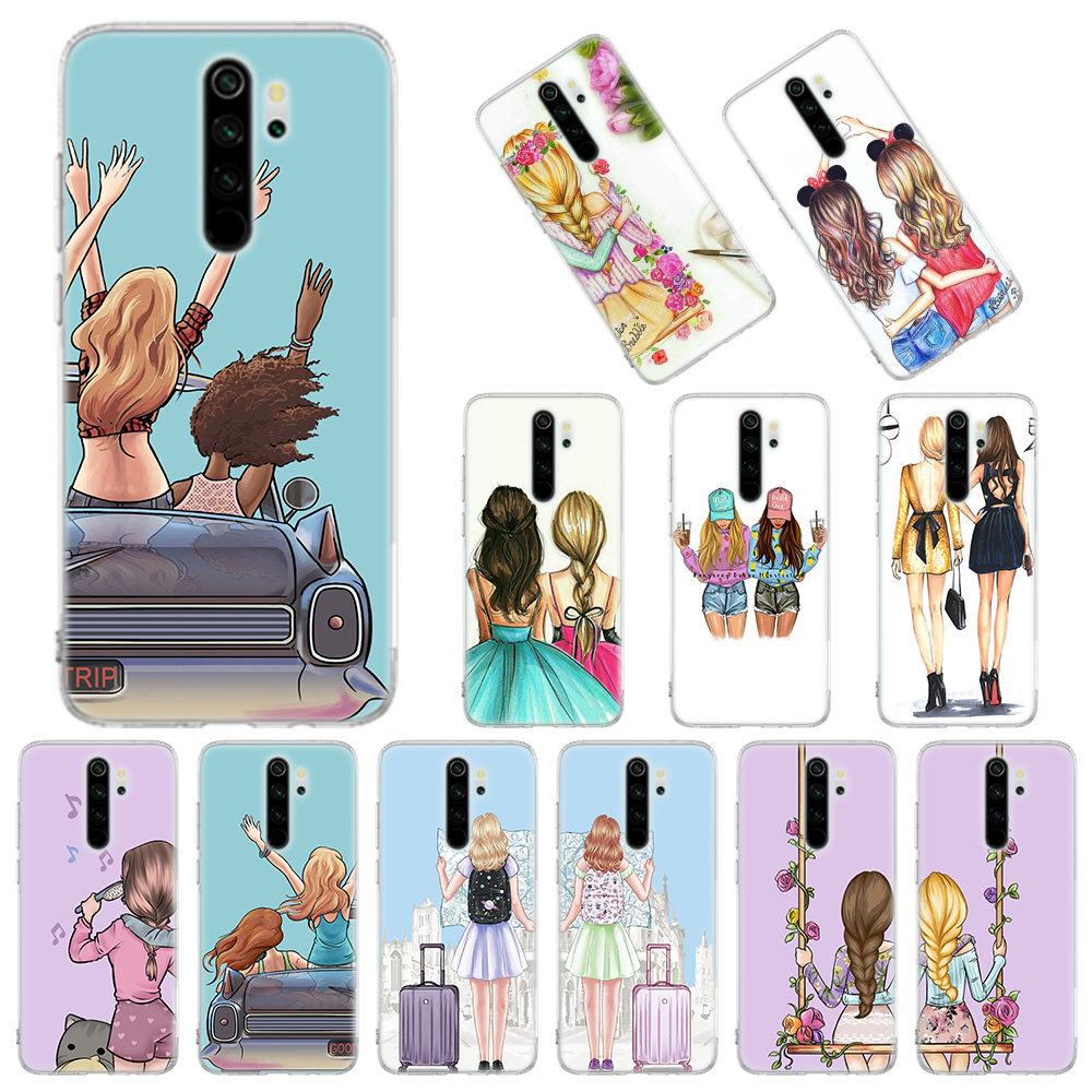 Best Sisters And Best Friend Soft Case For Xiaomi Redmi Note 8T 9S 6 7 8 Pro 9 Pro K20 K30 Pro 6A 7A 8A Silicone Cover
