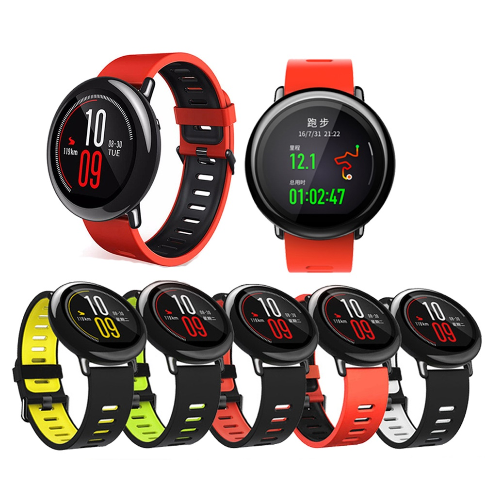 22mm Sport Silicone Wrist Strap bands for Xiaomi Huami <font><b>Amazfit</b></font> Bip <font><b>BIT</b></font> PACE stratos <font><b>2</b></font> 2S Smart Watch Replacement Band Smartwatch image