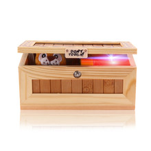 Wooden Useless Box Leave Me Alone Box Most Useless Machine Don't Touch Tiger Toy Gift with Sound(China)