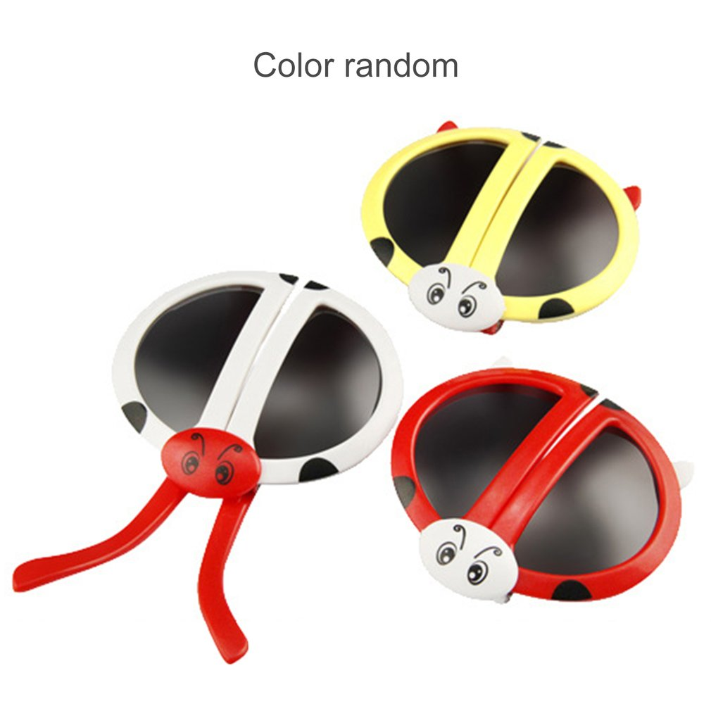 New Hot 1pc Cute Fashion Folding Ladybug Deformity Sunglasses Puzzles Toy Baby Toys Flexible Construction Birthday Gift For Kids